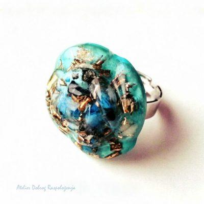 tirkizni orgonski prsten 3