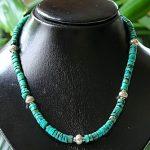 Ogrlica od tirkiza i tibetanskog srebra